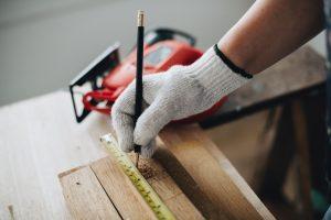 measuring stuffs before sawing